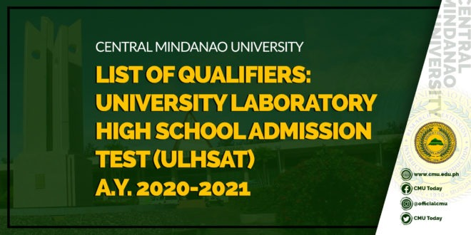 ULHSAT LIST OF QUALIFIERS A.Y 2020-2021