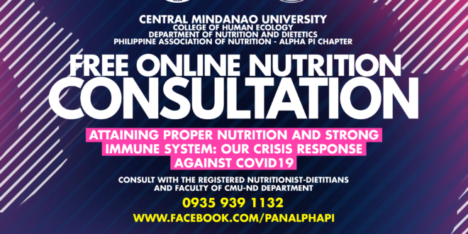 """CHE-ND Launches FREE Online Nutrition Consultation: """"We are not helpless"""""""
