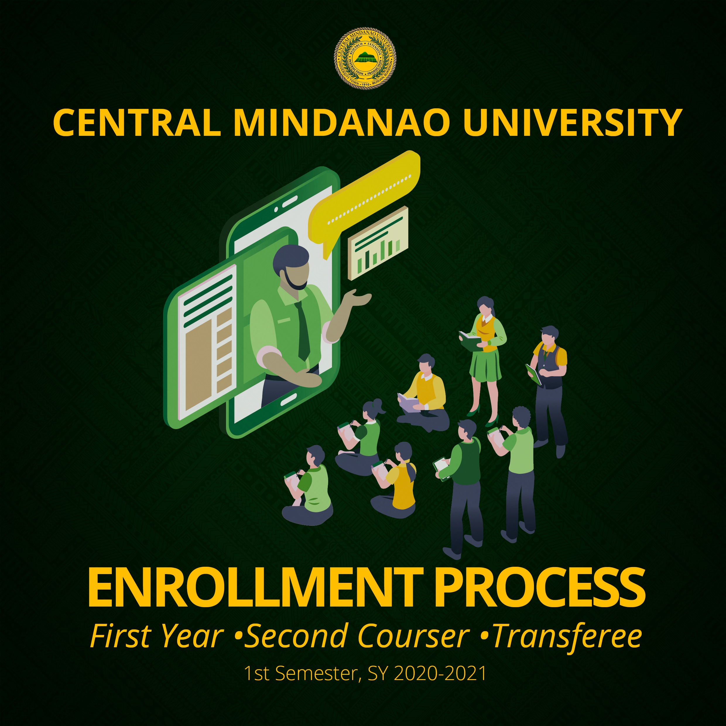 ENROLLMENT PROCESS for First Year, Second Courser, & Transferee, 1st Semester, SY 2020-2021