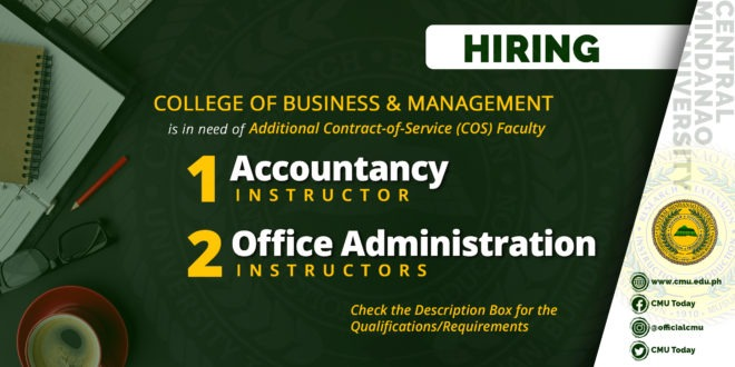 HIRING: College of Business and Management