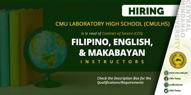 HIRING: CMU Laboratory High School (CMULHS)