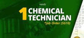 HIRING: Chemical Technician