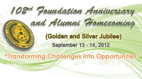 102nd Foundation Anniversary and Alumni Homecoming
