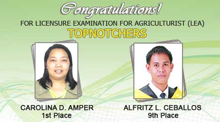 AMPER Tops 2012 Licensure Examination for Agriculturists: CEBALLOS Nestled on the Ninth