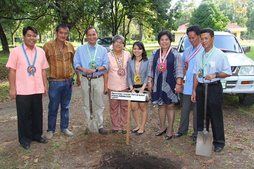 Tree planting by the CMU officials