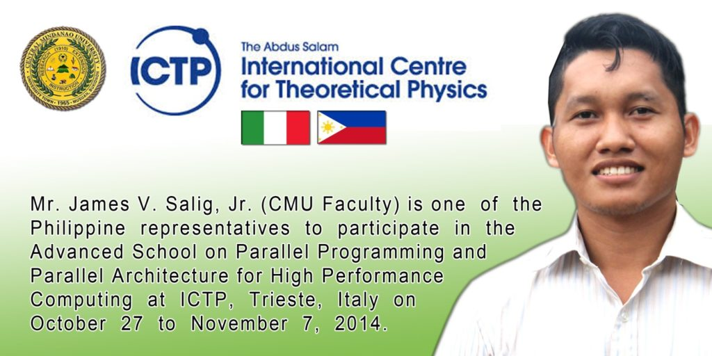 CMU Physics Faculty Member to attend advance schooling in Italy