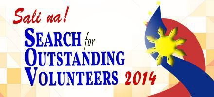 sali na search for outstanding volunter 2014