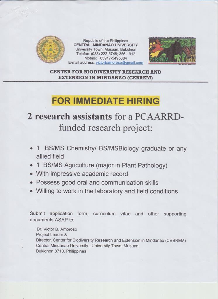 hiring pcaarrd