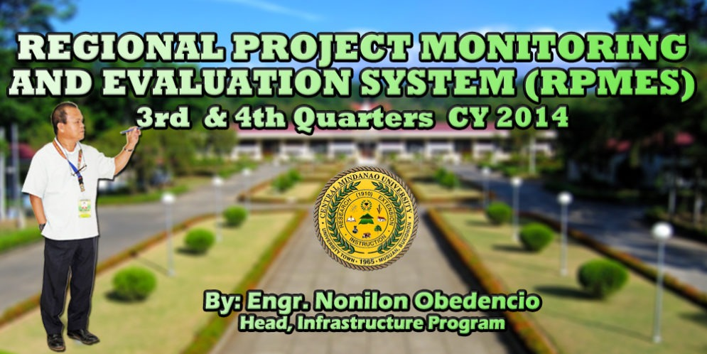 Regional Project Monitoring and Evaluation System (RPMES) 3rd and 4th Quarters CY 2014