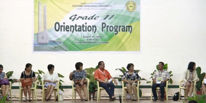 CMU conducts Grade 11 Orientation Program