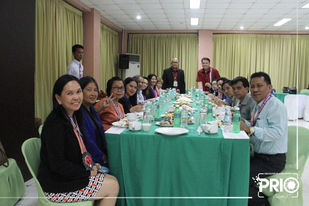 Welcome dinner with the AACCUP accreditors and university officials at the Farmers Training Center.