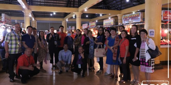 EARLIER: Accreditors visit at LGU Maramag municipal projects and fellowship dinner.