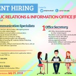HIRING: Public Relations and Information Office