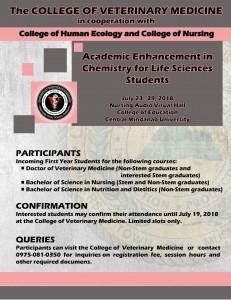 VETMED Chemistry academic enhancement