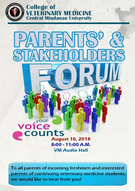 LOOK: CVM Parents` & Stakeholders Forum