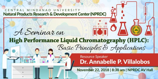 LOOK: NPRDC will conduct a seminar on Basic Principles & Applications about HPLC.