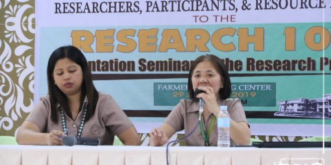 University Research Office conducts an Orientation Seminar on Research Process