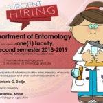 HIRING: Department of Entomology