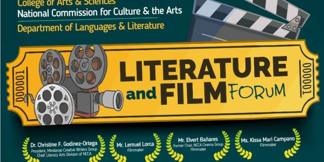 Department of Languages and Literature will conduct a Literature and Film Forum