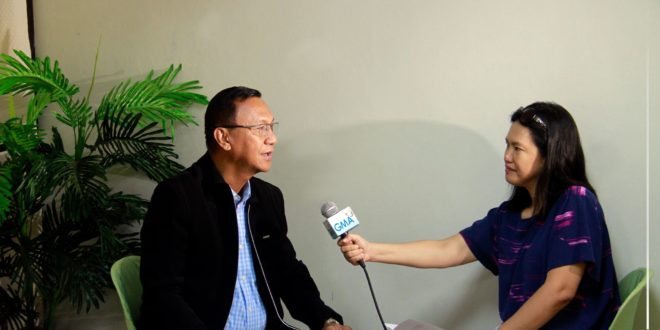 IN PHOTOS: Dr. Jesus Antonio G. Derije, 9th CMU President in an interview with GMA Network