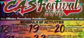 LOOK: CAS Festival Schedule