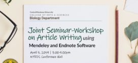 LOOK: Joint Seminar-Workshop on Article Writing using Mendeley and Endnote Software