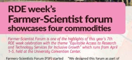 CMU Bulletin (RDEW2019): RDE week's  Farmer-Scientist forum  showcases four commodities