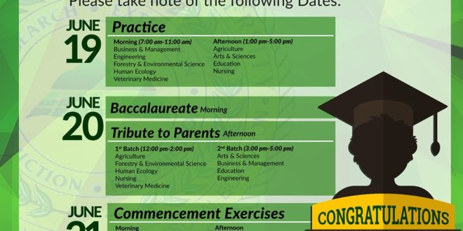 LOOK: TO ALL GRADUATING STUDENTS Please take note of the following dates.