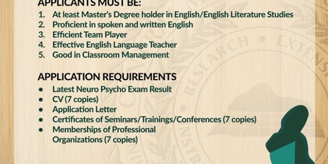 HIRING: The Department of Languages and Literature