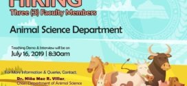 HIRING: Department of Animal Science