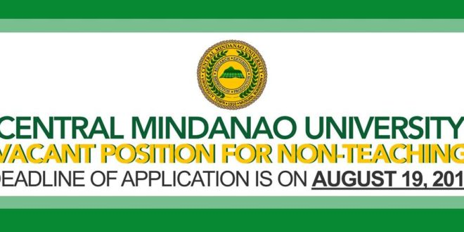 LOOK: CMU Vacant Non-Teaching Positions.