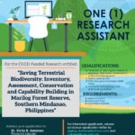 HIRING: The Center for Biodiversity Research and Extension in Mindanao (CEBREM) is in need of one (1) research assistant.