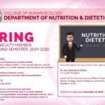 HIRING: Faculty – Nutrition & Dietetics Department, College of Human Ecology
