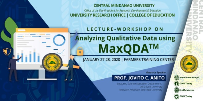 HAPPENING NOW: Lecture-Workshop Analyzing Qualitative Data using MaxQDA™