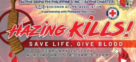HAZING KILLS! Save Life, Give Blood