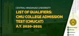 CMUCAT RESULTS A.Y. 2020-2021