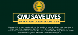 LOOK: The Office of Student Affairs, together with the student leaders of Central Mindanao University, is calling for your donations to help the students who are still stranded in their boarding houses and dormitories inside the university premises upon the enforcement of the enhanced community quarantine to contain the spread of COVID-19. Any donation will be of great help (eg. goods, services & medical supplies).