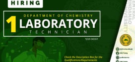 HIRING: Laboratory Technician, Department of Chemistry