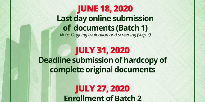 Last day of Online Submission of Documents