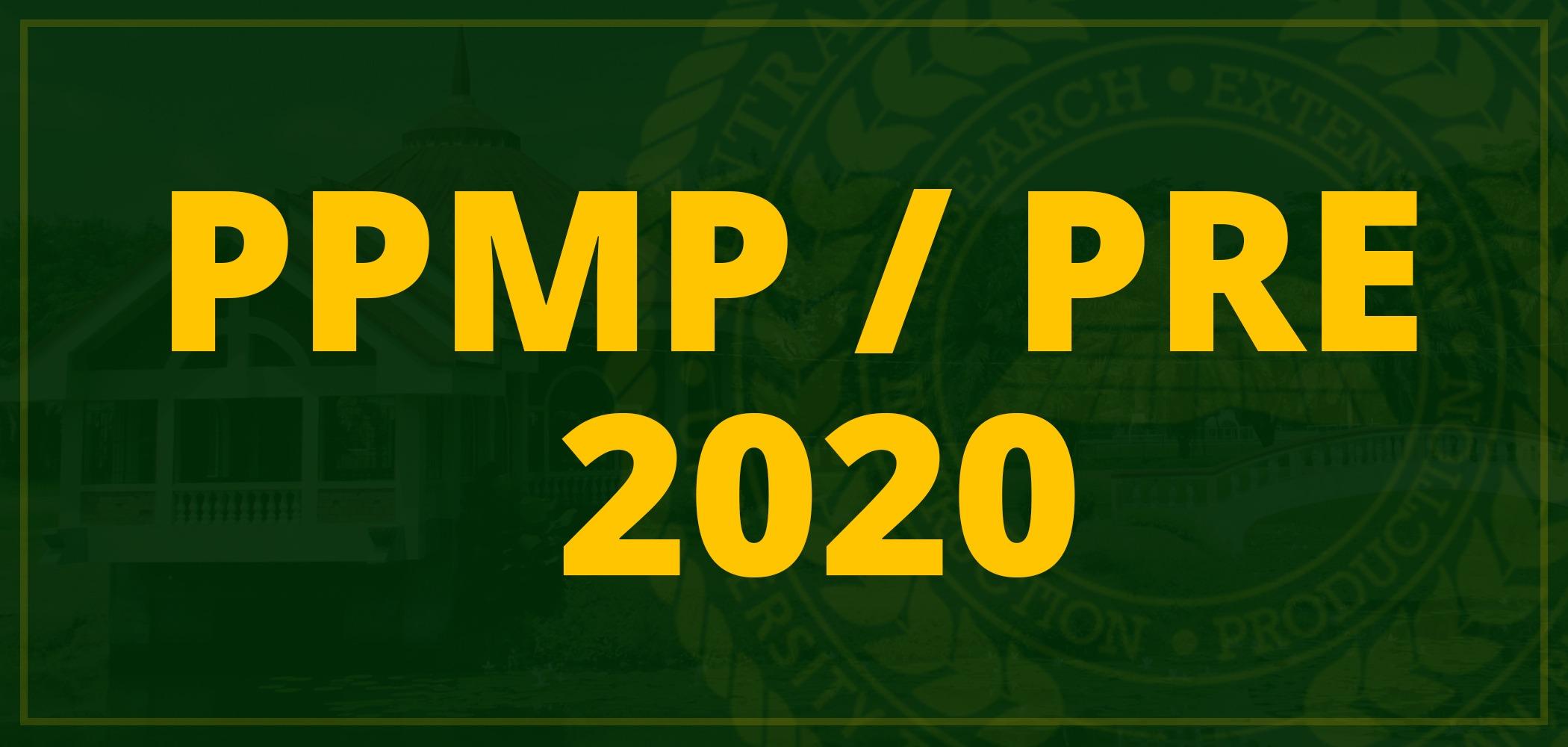 PPMP / PRE 2020