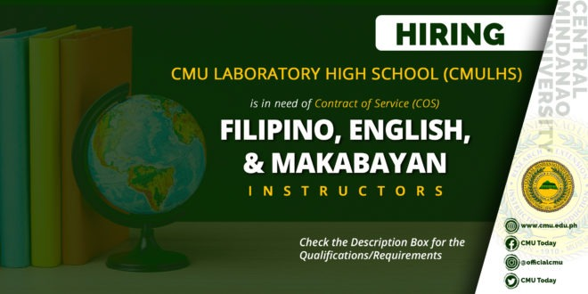 HIRING: CMU Laboratory High School (CMULHS)