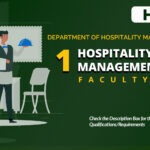 HIRING: One (1) Faculty member of the Department of Hospitality Management for the First Semester, SY 2020-2021