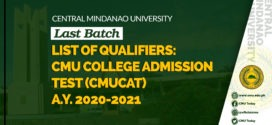 CMUCAT RESULTS A.Y. 2020-2021 (Last Batch)
