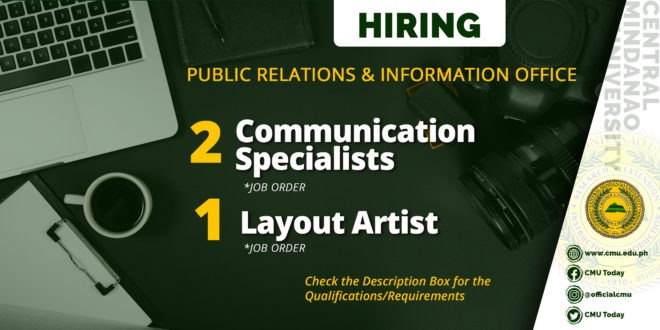 HIRING: CMU Public Relations & Information Office (PRIO)