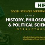 HIRING: Social Sciences Department