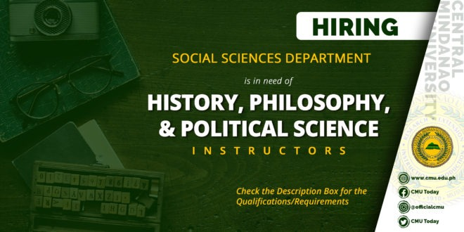 HIRING: Social Sciences Department