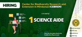HIRING: Center for Biodiversity Research and Extension in Mindanao (CEBREM) is in need of one (1) Science Aide