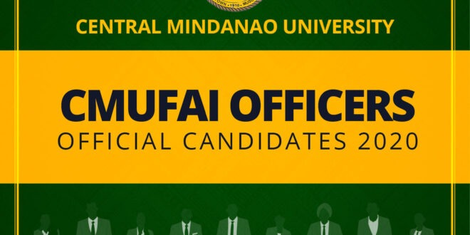LOOK: Official Candidates of 2020 CMUFAI Officers
