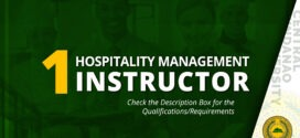 HIRING: Hospitality Management Instructor