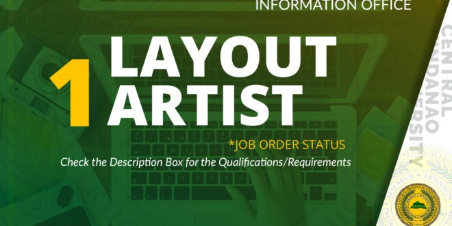 HIRING: CMU Public Relations & Information Office needs One (1) Layout Artist